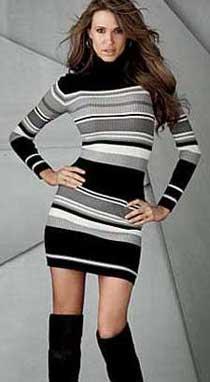 Вязаное офисное платья