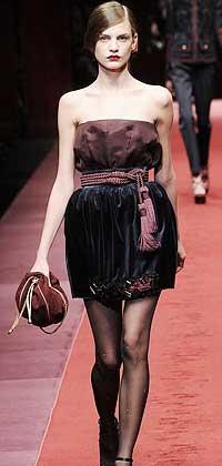 Короткое подиумное платье