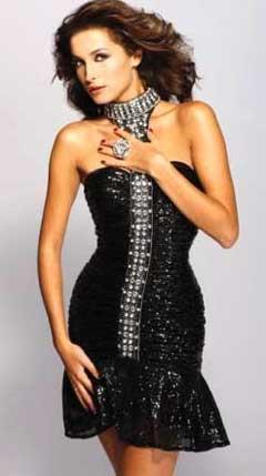 Выкройка черного новогоднего платья