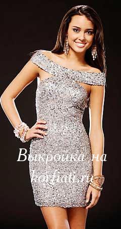 платье на новый год выкройка
