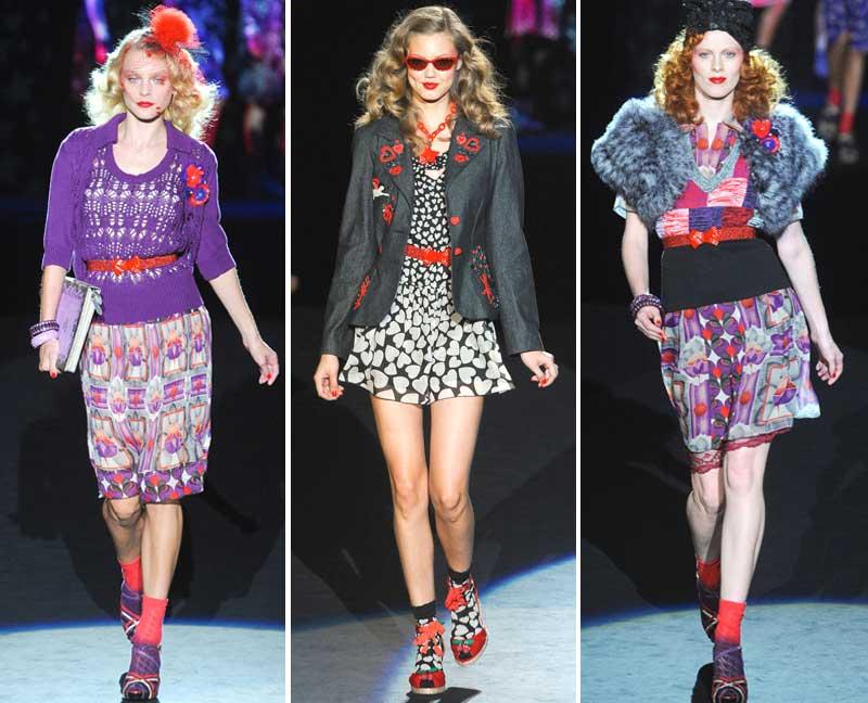 Фотографии 3 моделей мода весна-лето 2012