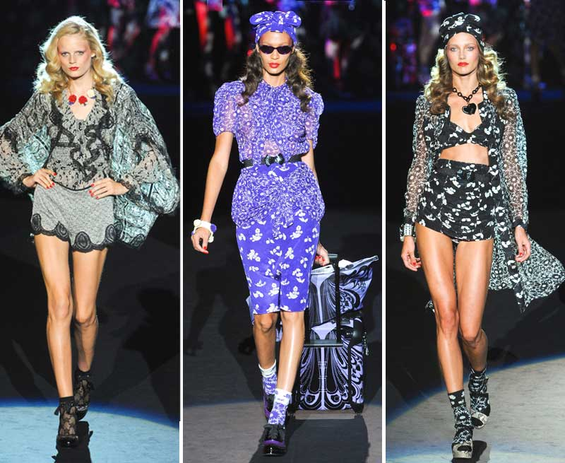 Фото ярких моделей показа мода весна-лето 2012