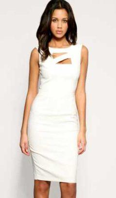 белое платье