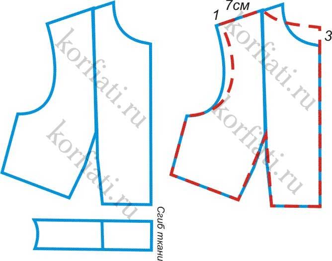 Моделирование лифа платья