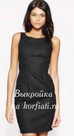 Модель платье футляр черное