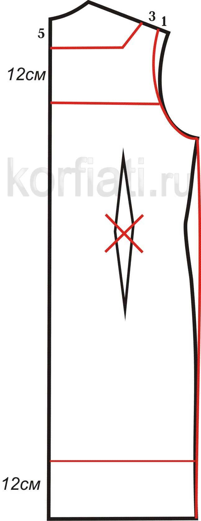Выкройка прямого платья - выкройка 3