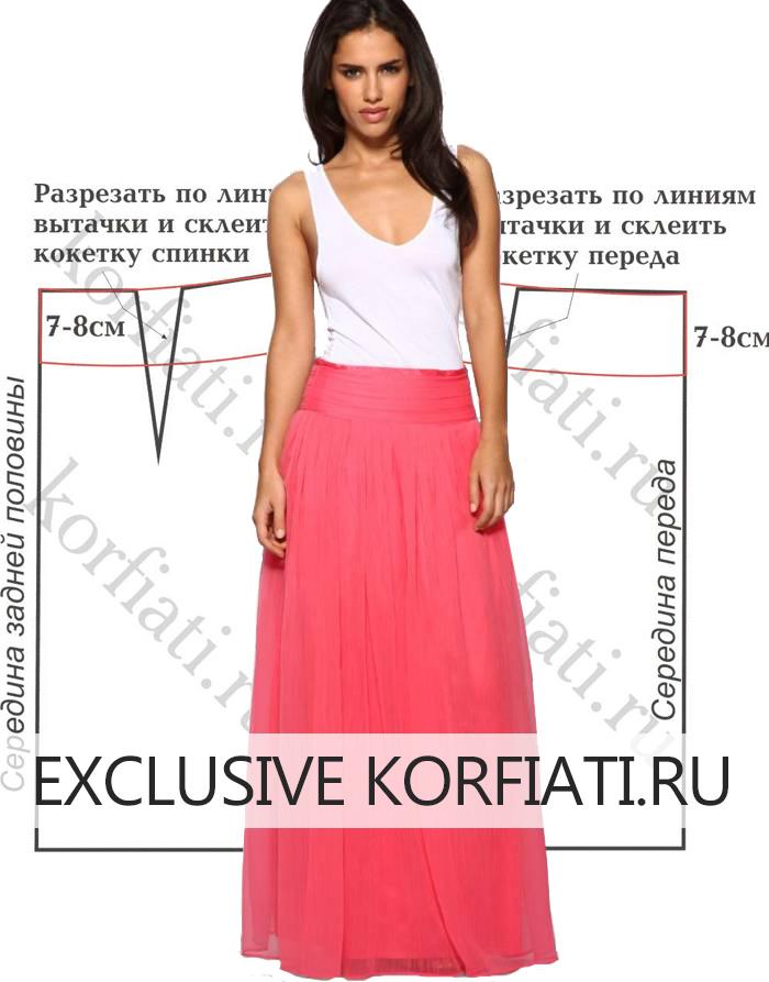 Фотография длинной юбки из шифона