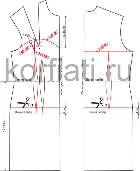 Платье на выпускной - моделирование выкройки
