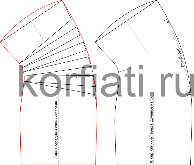 Моделирование простого платья с драпировкой по боку