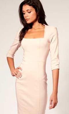 Бесплатные выкройки платьев - элегантное платье для офиса