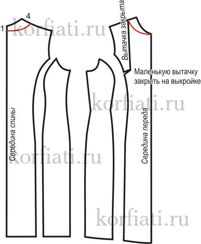 выкройка платья футляр выкройка часть 2