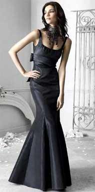 Выкройка черного платья в пол