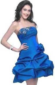 Выкройка платья-корсет - Мечта цвета ультрамарин