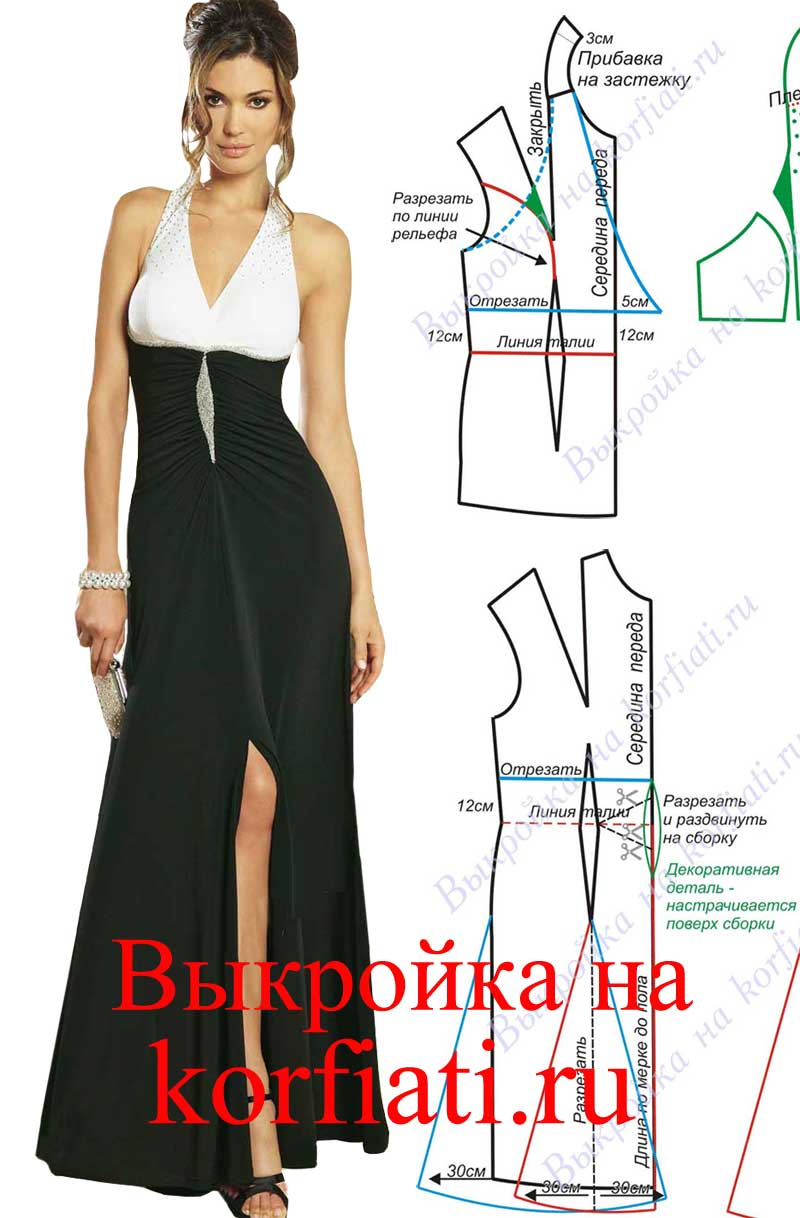 Выкройка готового женского платья фото 162