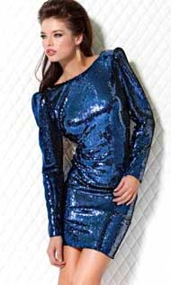 Выкройка платья с пайетками