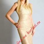 Праздничное платье футляр