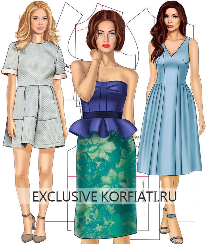 Простые выкройки платьев: моделируем и шьем