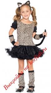 Выкройки новогодних костюмов: костюм кошки для девочки