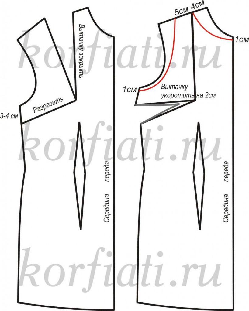 Выкройка-основа платья для скачивания от А. Корфиати 4