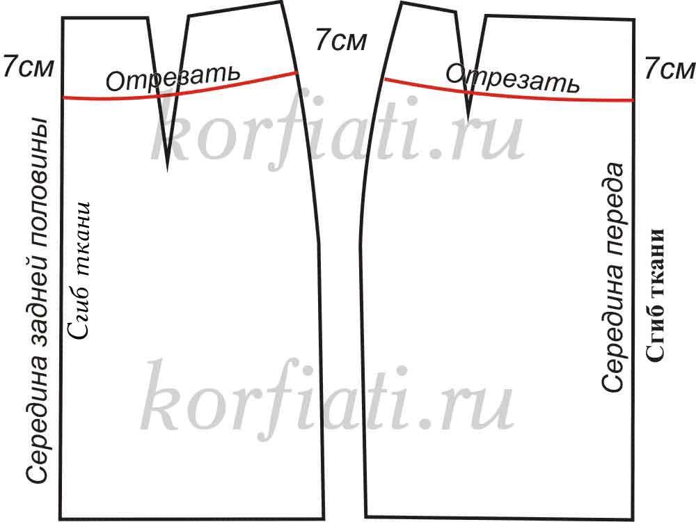 Схема юбки на кокетке
