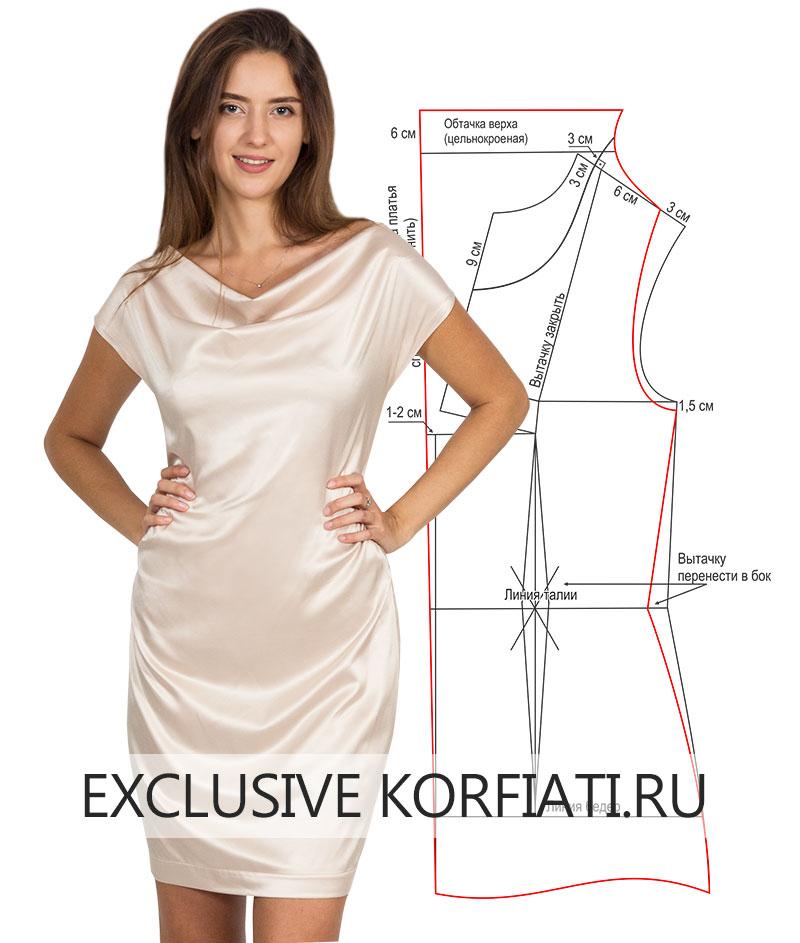 062ed799c00323d Выкройка платья с драпировкой качели от Анастасии Корфиати
