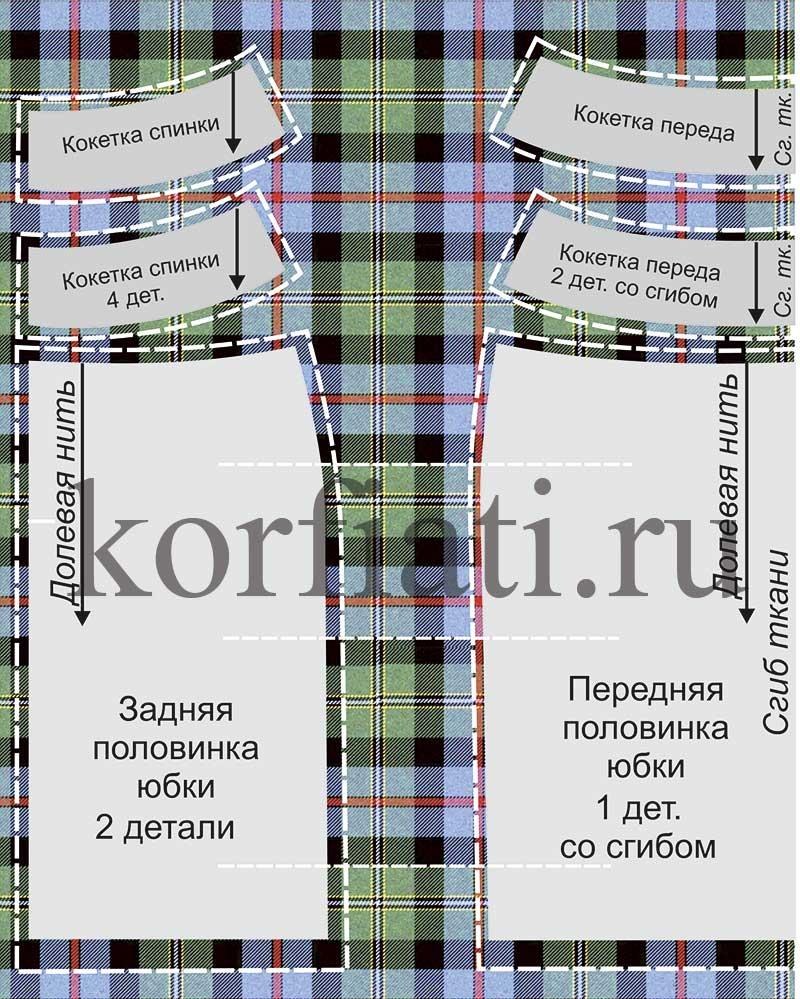 Как раскладывать выкройку юбки на ткань