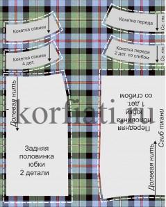 Выкройка на ткани