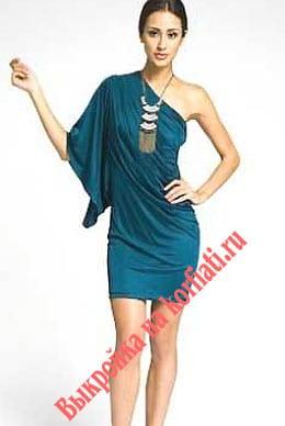 Выкройка платья для начинающих - элегантная асимметрия