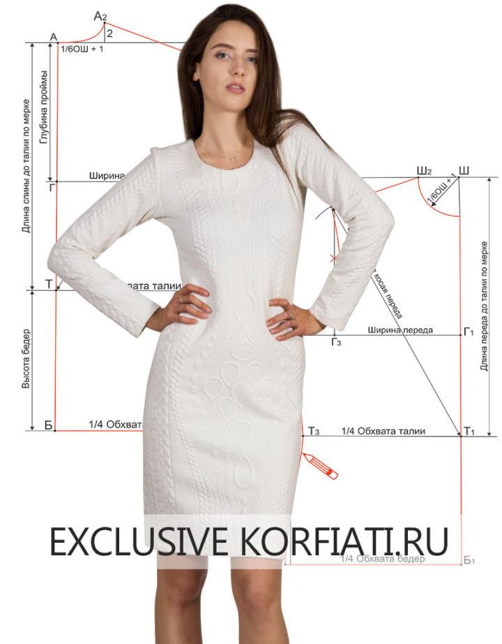Выкройка платья без вытачек