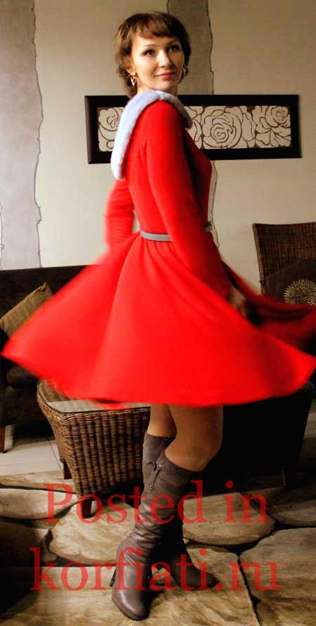 Гайдемски Эльвира красное платье