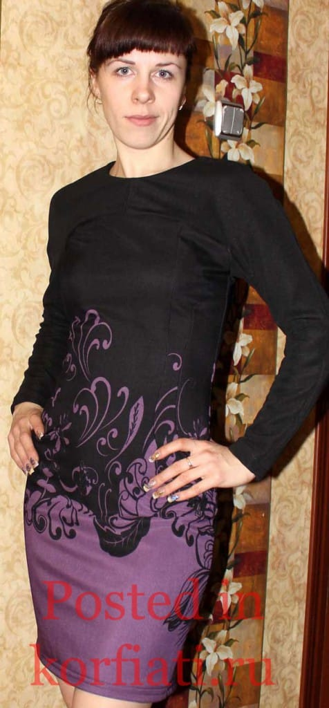 Кивал Лариса черное платье