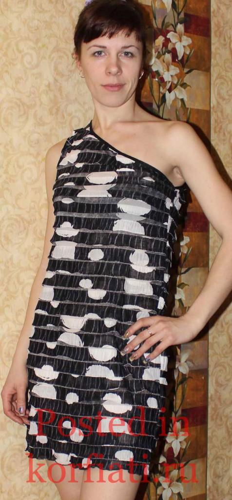 Кивал Лариса платье на одно плечо