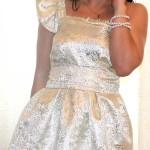 Наталья Бирюкова белое платье на одно плечо