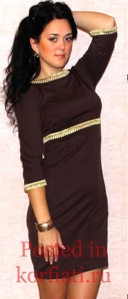 Наталья Бирюкова черное короткое платье