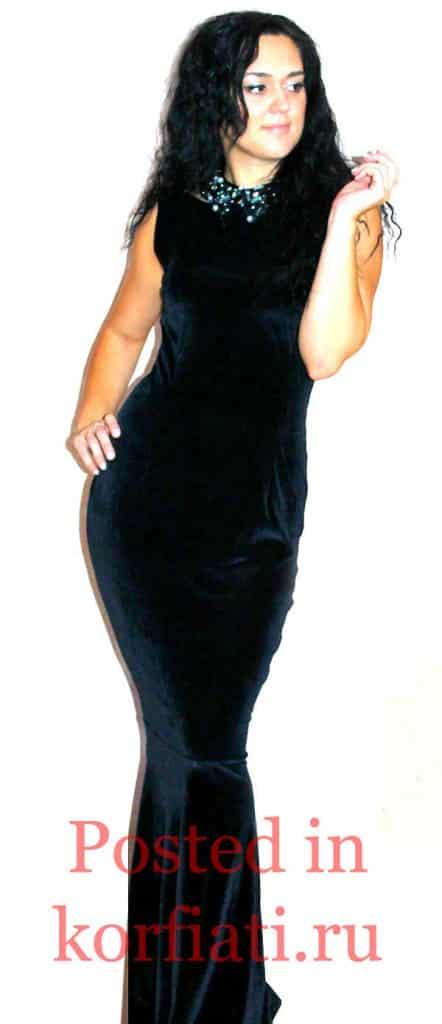 Наталья Бирюкова черное платье
