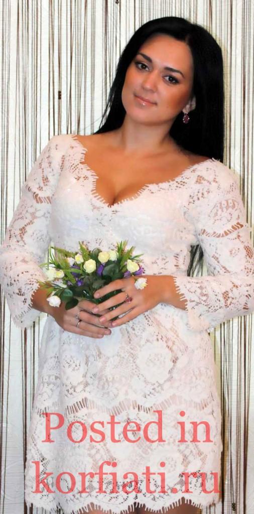 Наталья Бирюкова платье из кружева