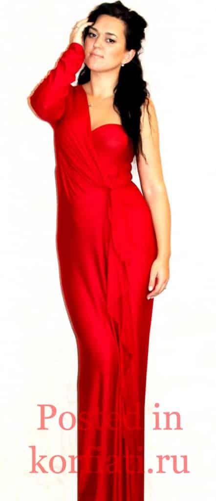 Наталья Бирюкова красное платье