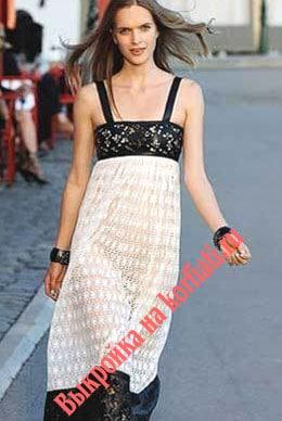Выкройки платье для начинающих - летнее платье от Шанель