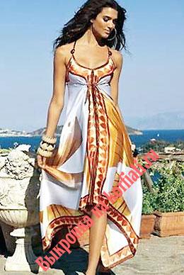 Выкройки платьев для начинающих - сарафан из платков