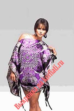 Платье из шелка - шикарный балахон для начинающих