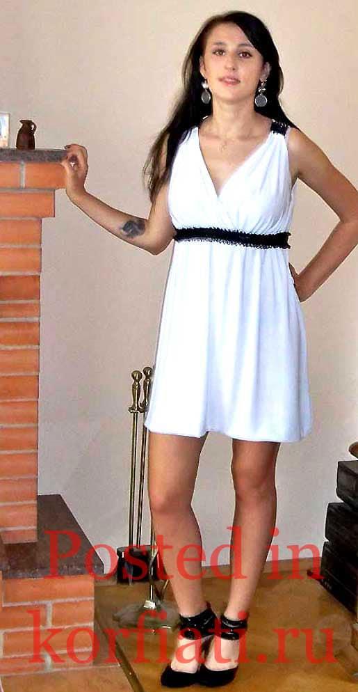 Старовойтова Екатерина белое платье