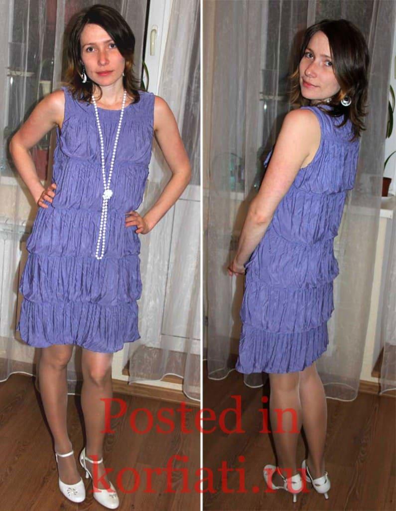 Степанова Галина синее платье