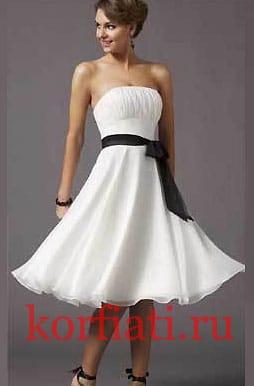 Выкройки летних платьев - вечернее платье