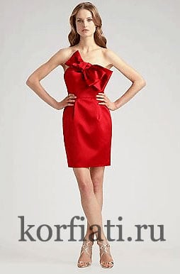 Выкройка платья с бантом