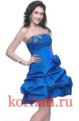 Выкройка платья цвета ультрамарин