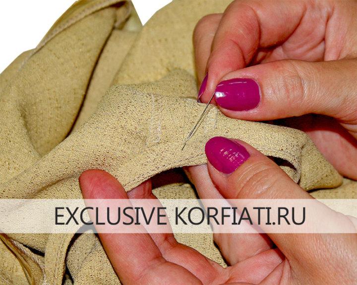 Косая обтачка - обработка платья