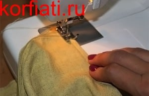 Обработка горловины косой обтачкой