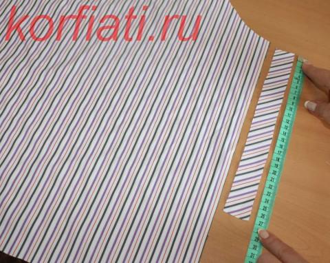 Обработка разреза рукава косой обтачкой