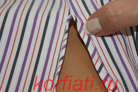 обработка разреза рукава обтачкой