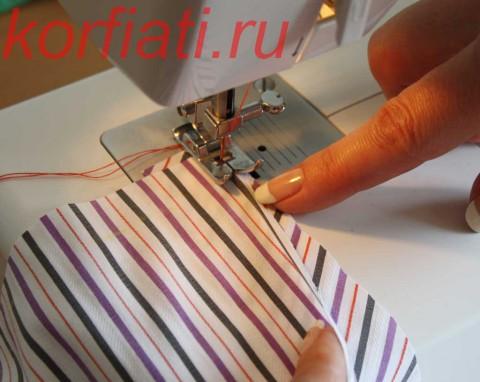 обработка разреза рукава